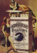 Vintage Admiral Cigarettes Advertising Poster.